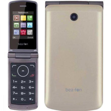 """Beafon C240 Dual SIM Elegáns 2,4""""LCD összecsukható mobiltelefon kamerával, aranyszínű"""