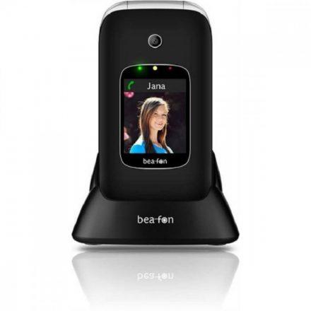 Beafon SL590 összecsukható  fekete ergonómikus mobiltelefon, külső-belső kijelzővel, M1/M2  és 3MP kamerával