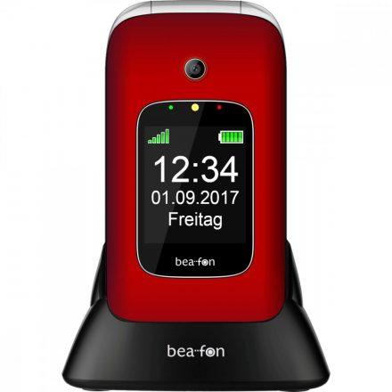 Beafon SL590 összecsukható  piros ergonómikus mobiltelefon, külső-belső kijelzővel, M1/M2  és 3MP kamerával