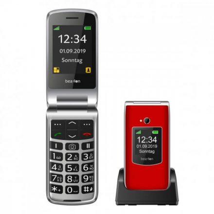 Beafon SL595 összecsukható  ergonómikus mobiltelefon, külső -belső kijelzővel, kamerával, M1/M2 , piros