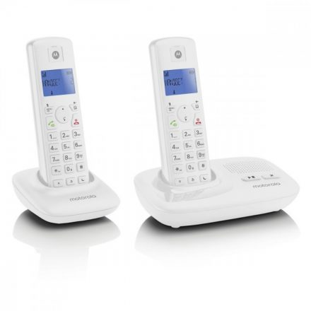 Motorola T412 üz.rögz. Duo Dect telefon, fehér